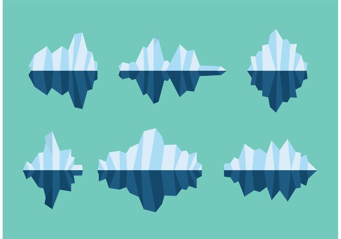 Flytande isbergsvektorer vektor