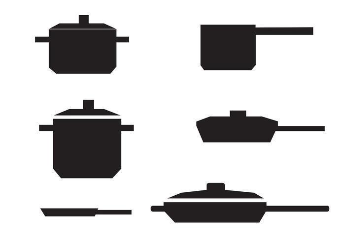 Gratis Vector Pan med handtag