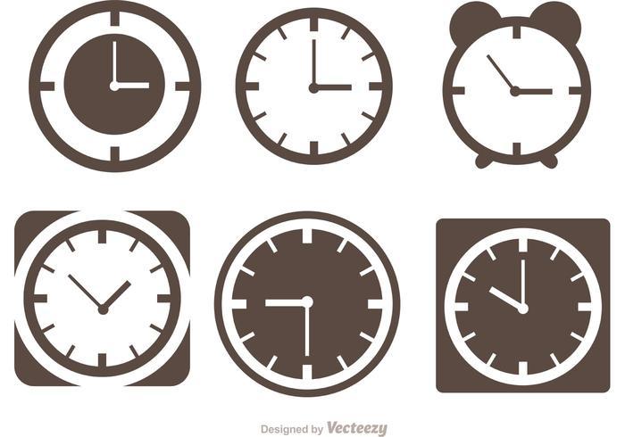 Desktop Clock Silhouette Vectors