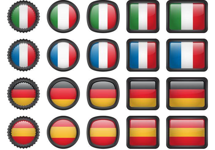Europäische Flagge Icons vektor