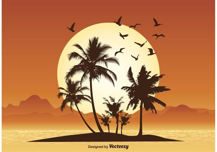 Tropisk scenillustration vektor