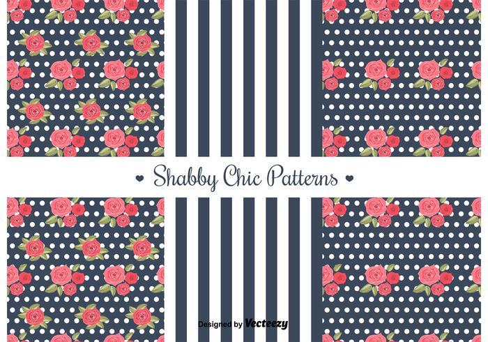 Gratis Shabby Chic Patterns vektor