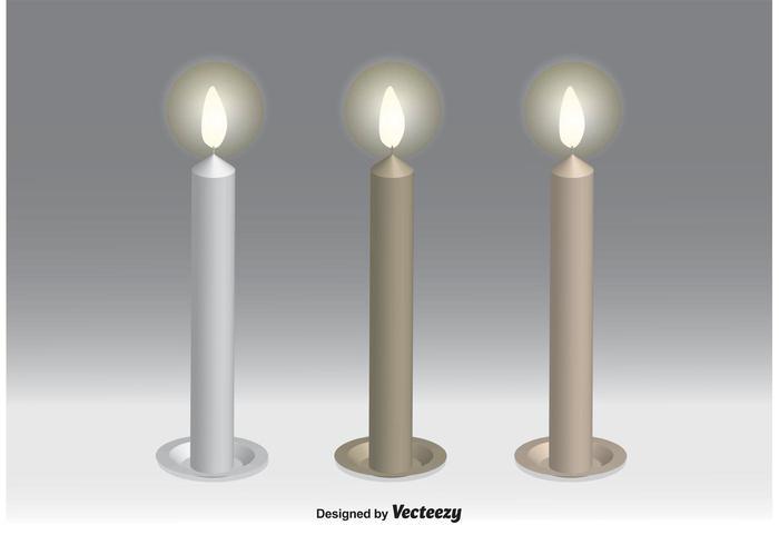 Kerzenvektoren vektor