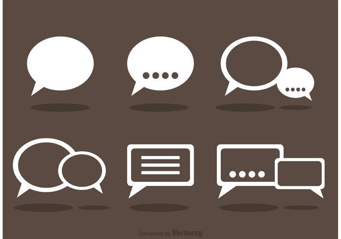 Chat Icons Vektor