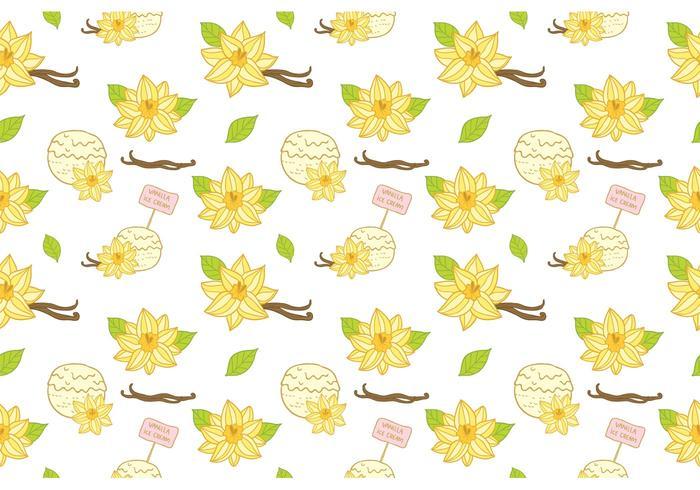 Gratis Vanilj Ice Cream Pattern Vector