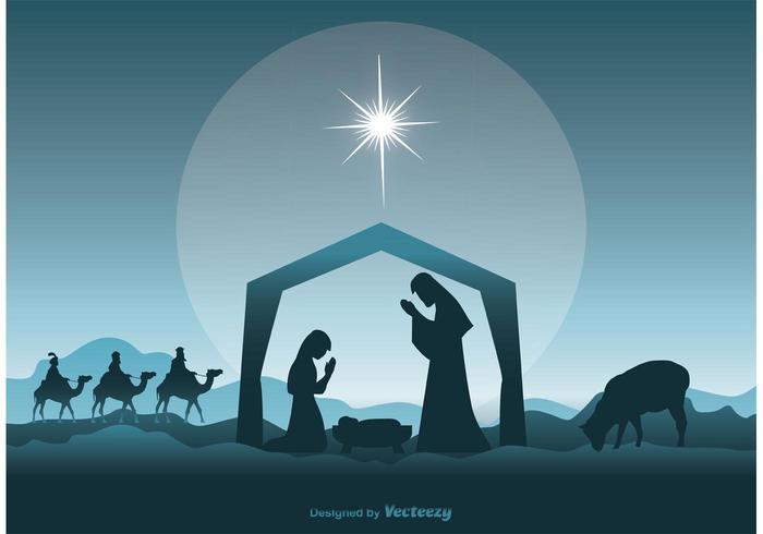 Nativity scen illustration vektor
