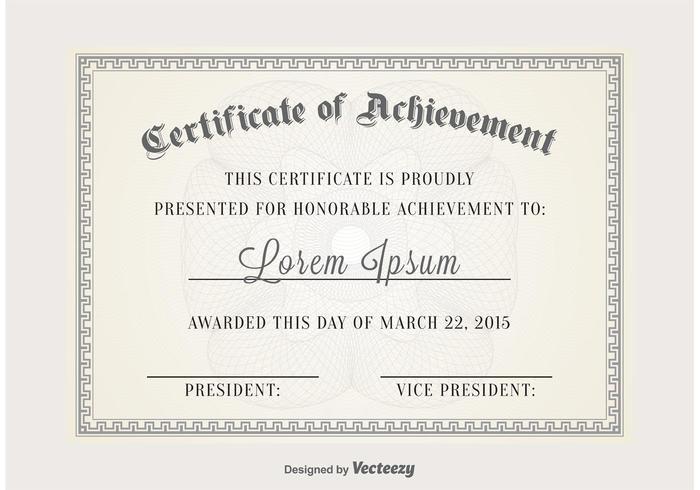 Zertifikat Vektor Vorlage