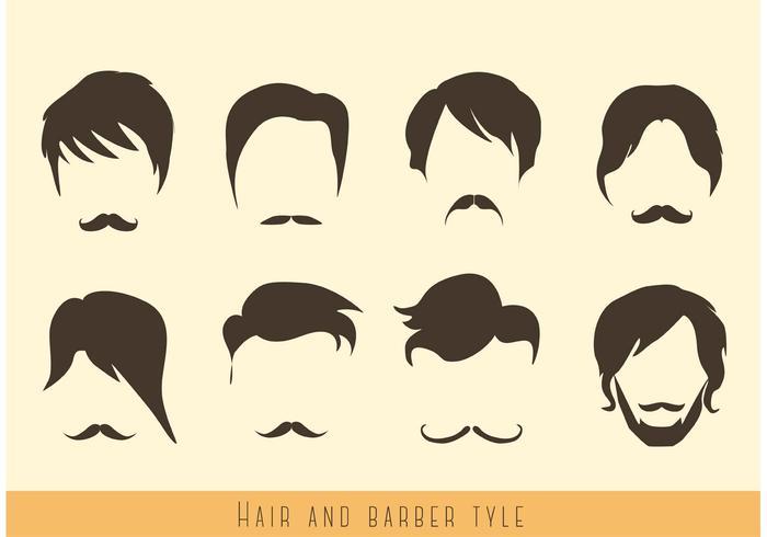 Haar- und Schnurrbart-Vektoren vektor