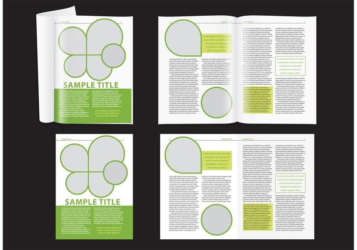 Modern grön magasin layout vektor
