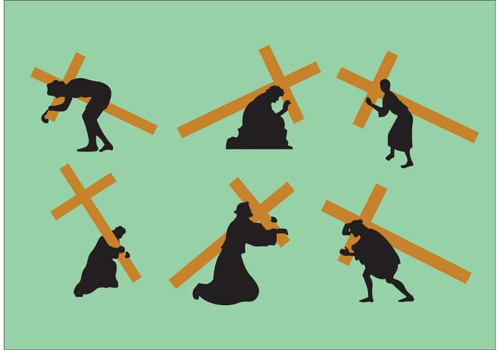 Jesus trägt die Kreuzvektoren vektor