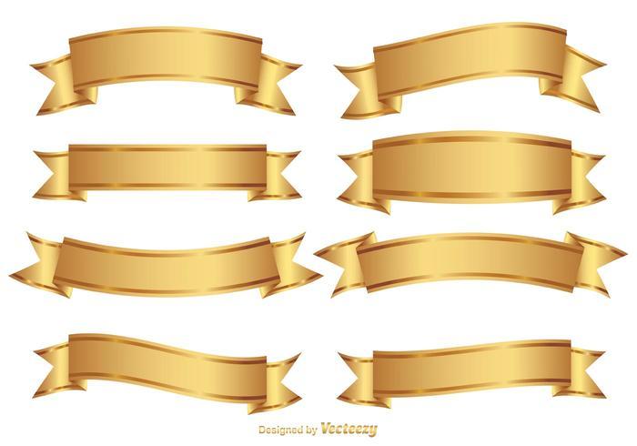 Goldene dekorative Banner-Set vektor