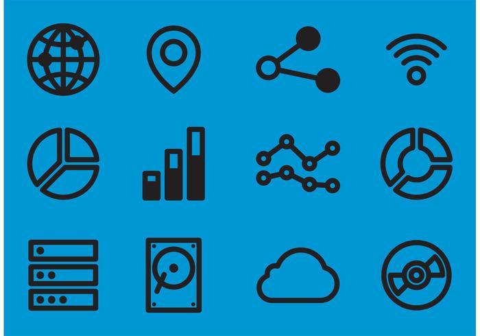 Big Data Vector Ikoner