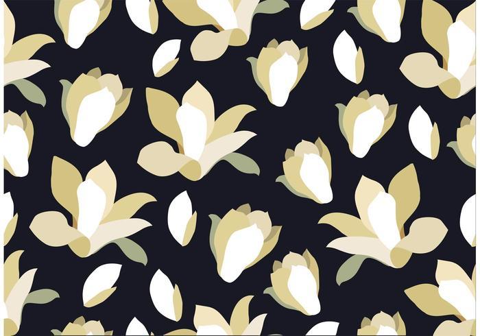 Sömlös svart blommig bakgrund vektor