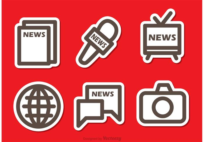 Enkla massmedia ikon vektorer