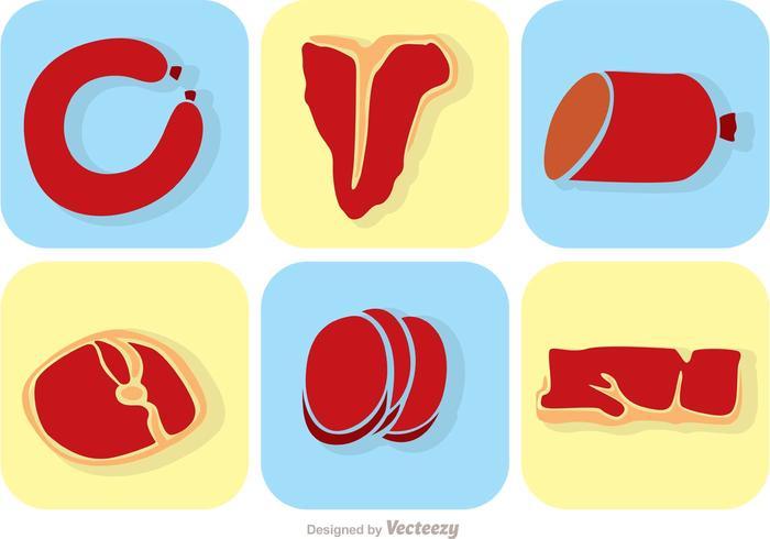 Sats av köttvektorer vektor
