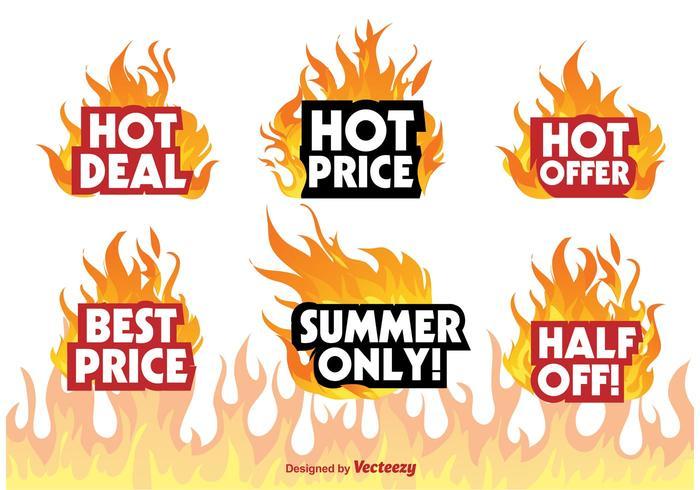 Hot Deal Abzeichen Zeichen vektor