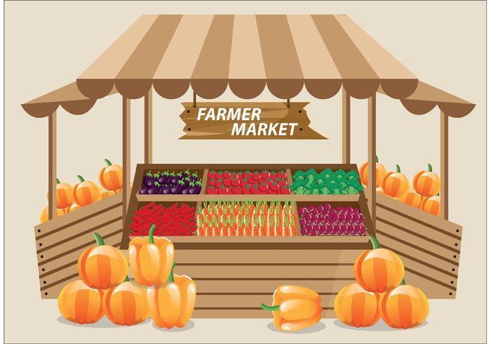Landwirt Markt Vektor