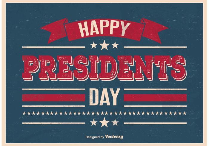 Weinlese-Art-Präsidenten-Tagesplakat vektor