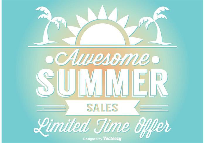 Sommarförsäljning Illustration vektor