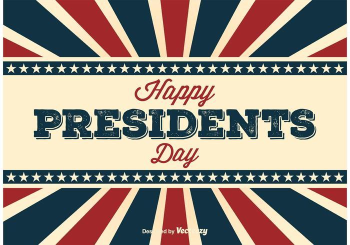 Retro Präsidenten-Tagesplakat vektor