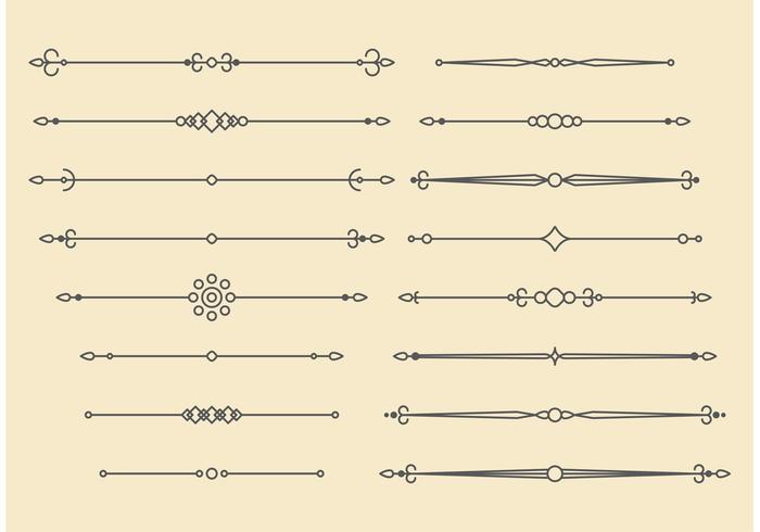 Retro-Vektor-Ornament Linien Design vektor