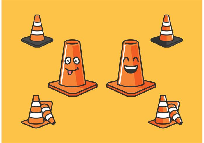 Orange Cone Vectors Ikoner Gratis