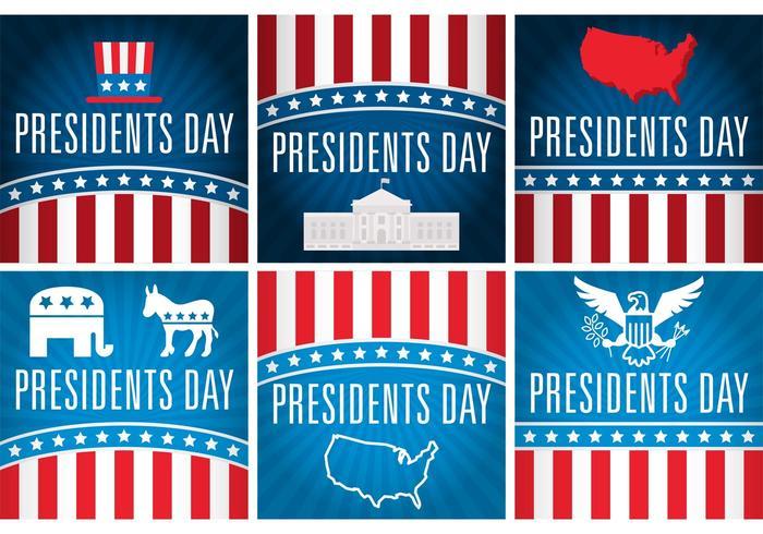 Presidenter dag vektor kort