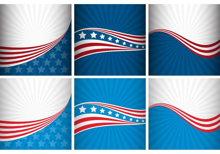 USA Bakgrundsvektorer vektor