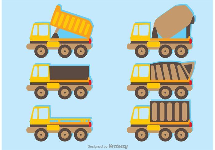 Sets Von Trucks Vector Pack