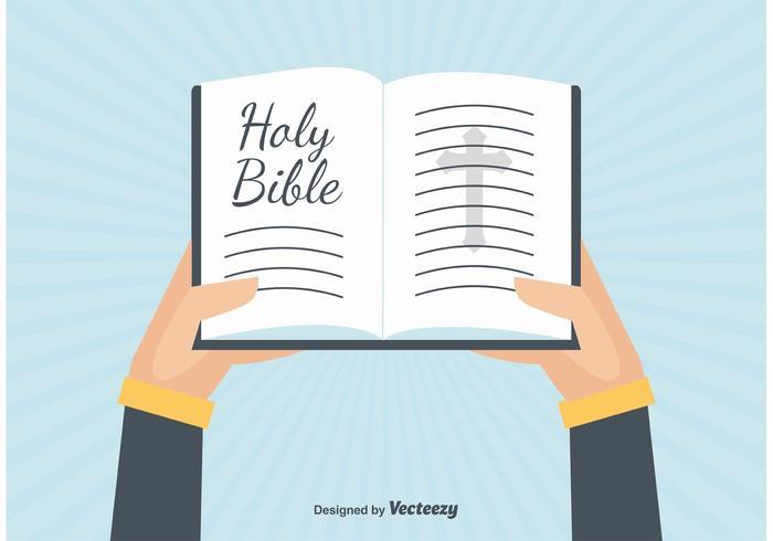 Öppna bibelillustrationen vektor