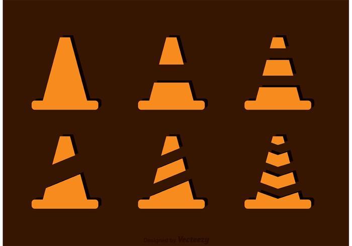 Einfache orange Kegel Vektoren