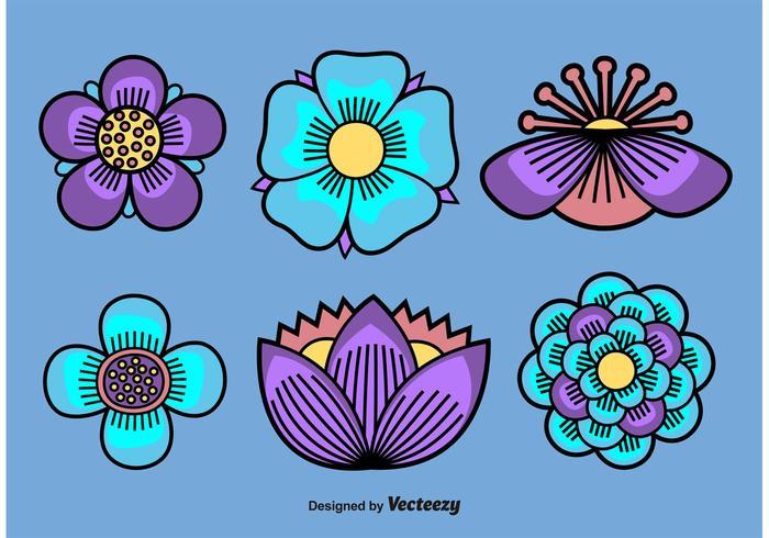 Illustrerade vektorer Blommor