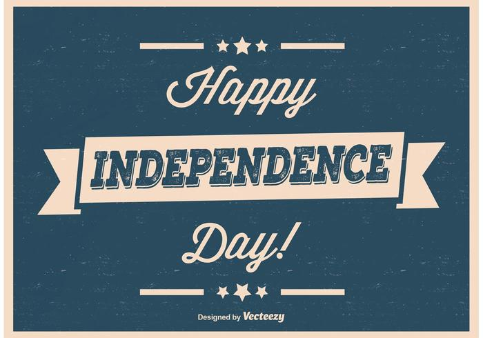 Retro tappning Independence Day Poster vektor