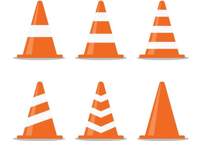 Orange Kegel Vektor Packung