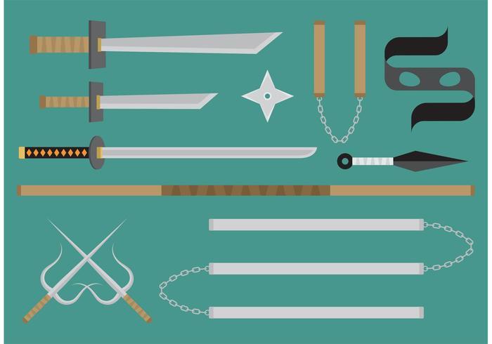 Ninja Vektor Waffen