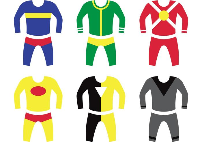 Superheld Kinder Kostüm Vektoren