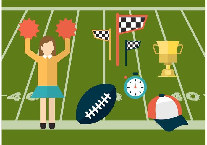 Sport und Cheerleading Vector Icons