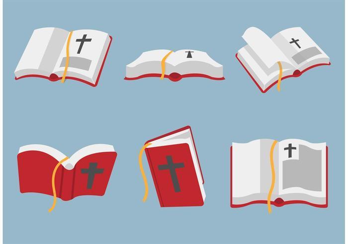 Öppen bibel vektor konst