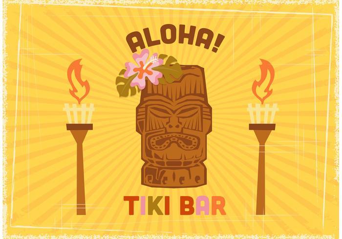 Kostenlose Tiki Bar Vektor Poster