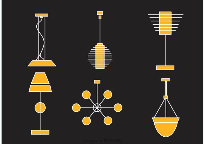 Retro modern ljuskrona vektor