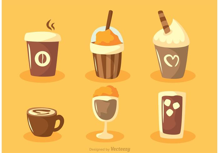 Set von Kaffee Vektoren