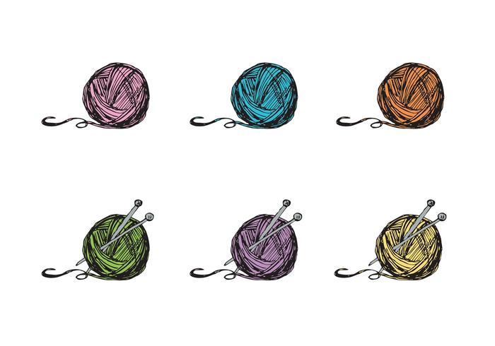 Gratis Ball of Garn Vector Series