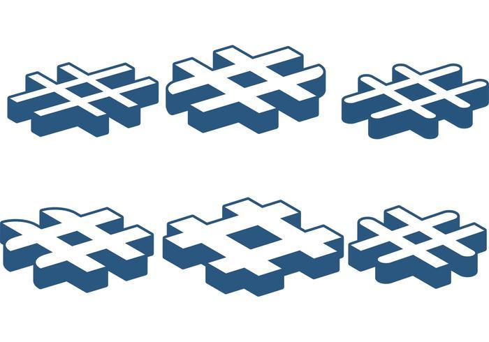 Hashtag-Vektoren vektor