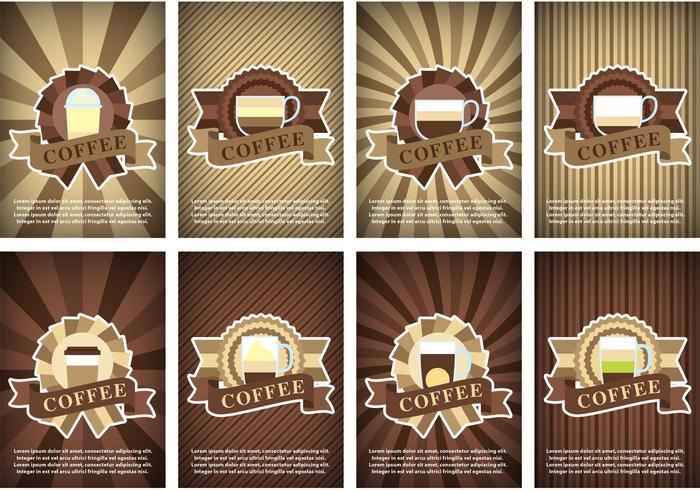 Kaffeaffisch vektorer