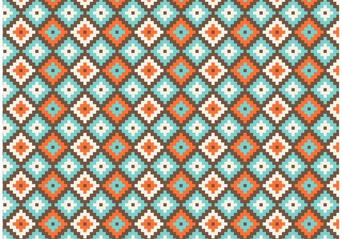 Gratis Native American Geometric Seamless Vector Pattern