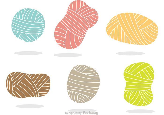 Färgglada Garnvektorikoner vektor