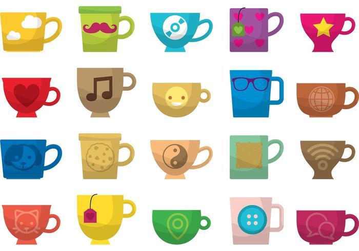 High Tea und Kaffeetasse Vektoren