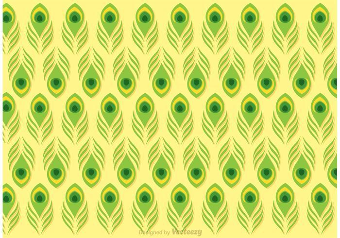 Lime grön påfågel fjädermönster vektor