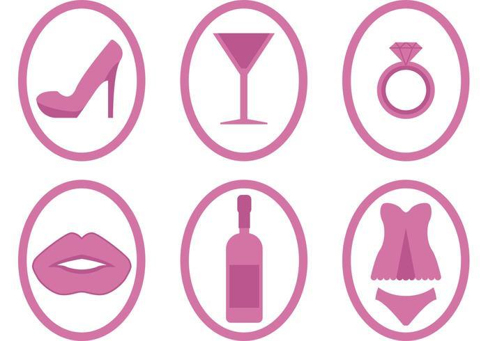 Bachelorette Partei Icon Vektoren