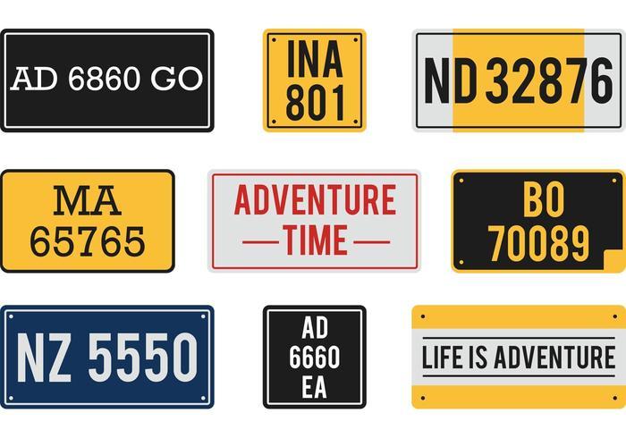 Kostenlose Vector License Plates
